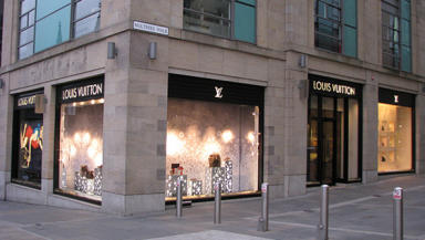 Louis Vuitton: The designer brand has a store on Edinburgh's upmarket Multrees Walk.