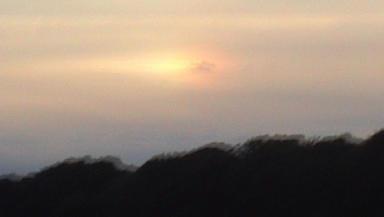 Strange phenomenon: Sky over North Berwick.