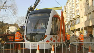 Tram: Management remain in a legal dispute with contractors on the project.