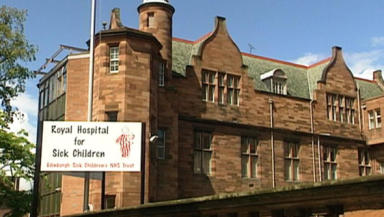 Hospital: Baby was taken to Edinburgh for treatment.