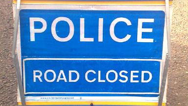 Road closed: Grampian Police are at the scene