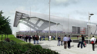 Glasgow 2014: an artist's impression of the NISA and Sir Chris Hoy Velodrome, which will host cycling events