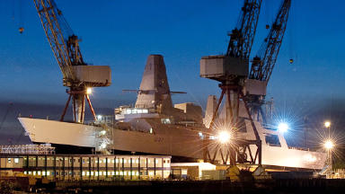Shipshape: HMS Duncan will be launched on Monday.