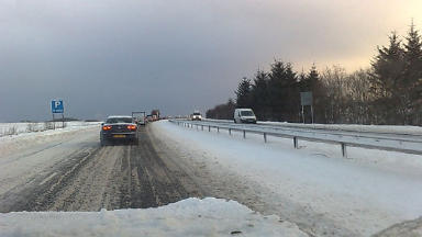 A90 snow: Roads hit on Friday.