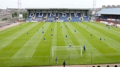 Flooding: Dens Park has been hit with a burst pipe.