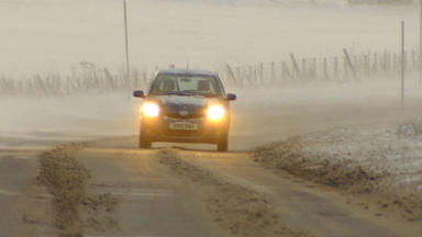 Warning: Freezing fog and ice are expected in central Scotland.