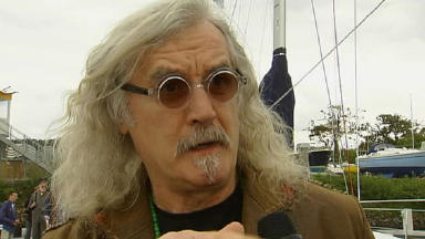 Star turn: Billy Connolly was moved by the plight of the flood victims.