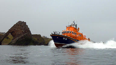 In action: Buckie Lifeboat was at the scene