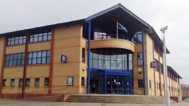 Investigation: The man is still being questioned at the high security Govan Police Station.