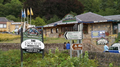 Tourist trap: The Loch Ness monster is a big pull for visitors to Scotland