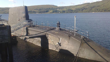 HMS Astute: Submarine is based on the Clyde.