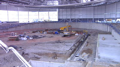 Velodrome: Work is being carried out ahead of the Commonwealth Games.