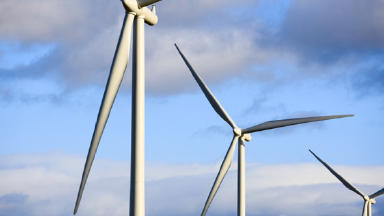 Climate drive: Low carbon technologies include offshore wind farms.
