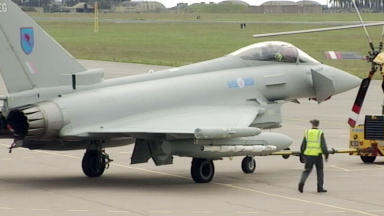 Spend: The MoD investment in Leuchars was for its typhoon requirements.
