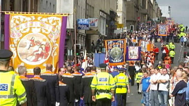 Orange Order: Police warning ahead of Glasgow event.