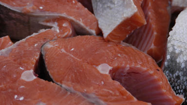 High steaks: Scottish salmon is selling well across the world.