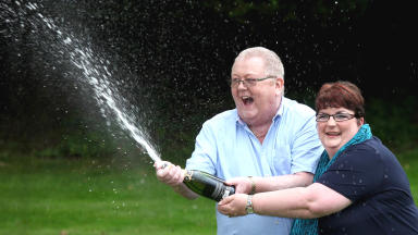 Winners: Colin and Chris Weir won £161m in EuroMillions.