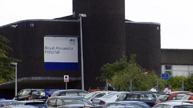 Cyclist injured: Royal Alexandra Hospital in Paisley