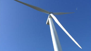 Wind farm: The community are divided over the issue.