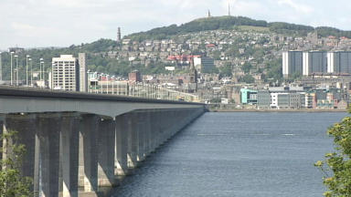 Smash: The incident caused tailbacks on the bridge and in Dundee city centre.