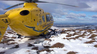 Helicopter: Air ambulance was called in by emergency services.