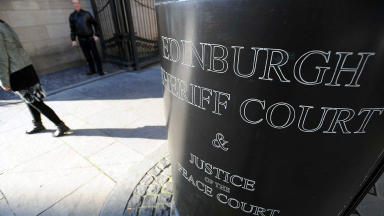 Edinburgh Sheriff Court: James Addison appeared at the court.