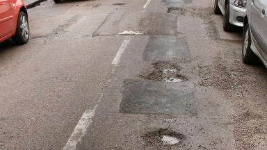 Potholes: Around £120,000 will be spent on improving roads (file pic).