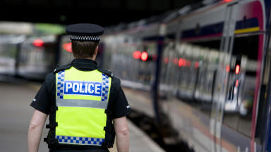 British Transport Police officer anonymous quality news image PR pic supplied by BTP. #policegeneric