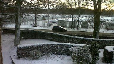 Winter snow: Turiff in Aberdeenshire