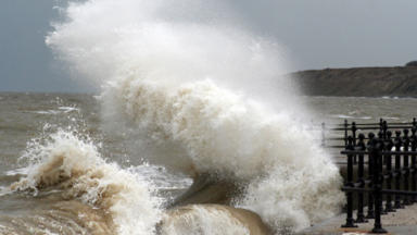Stormy weather: High winds and rain hitting Scotland.
