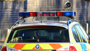Police car close police scotland Quality news image #policegeneric