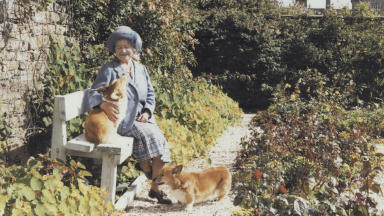 Queen Mother: One of the unseen photos going on display.