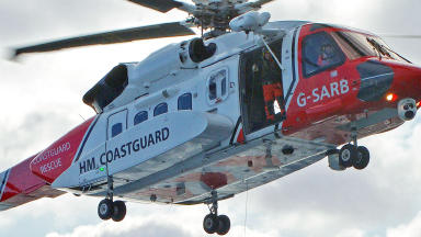 Stornoway Coastguard rescue helicopter Sikorsky S-92 close
