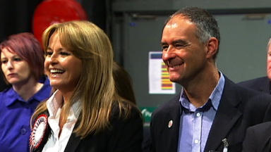 Misses out: Gail Sheridan, pictured with husband Tommy at the SECC count.