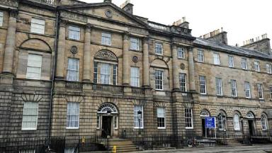 Bute House: Lee Peattie threw coins at the door of the First Minister's official residence.