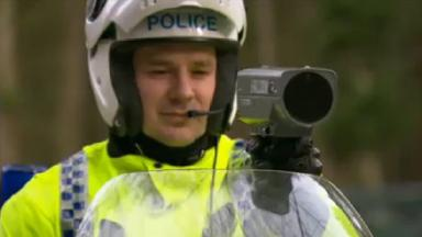 Speeding Motorists: Almost a quarter of those checked at the weekend were speeding.