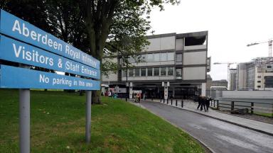 Critical condition: Injured man at Aberdeen Royal Infirmary.