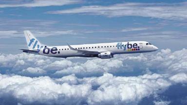 Flybe plane Embraer 195.