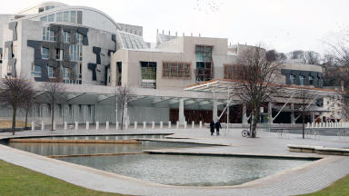 Quality shot of Scottish Parliament at Holyrood in Edinburgh.