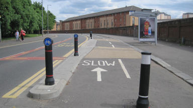 New route: The two-way segregated cycle lane links Bridgeton with the Commonwealth Games site.