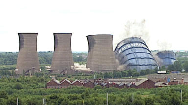Ravenscraig steelworks in Motherwell being demolished.