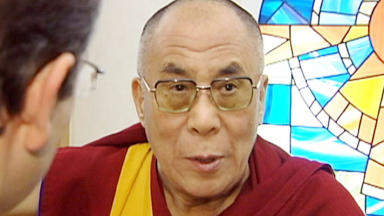 Dalai Lama interviewed for STV News during his 2005 visit to Edinburgh.