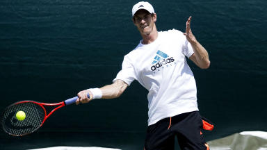 Andy Murray at Wimbledon.