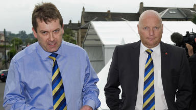 SFL chief executive David Longmuir (left) and president Jim Ballantyne (right)