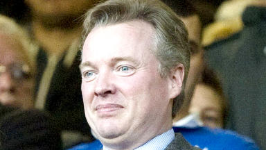 Craig Whyte, former Rangers owner, at game at Ibrox.