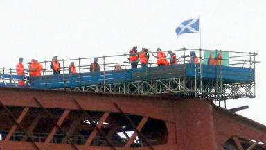 Bwani Junction play a gig on top of the Forth rail bridge.