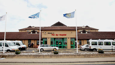 Ayr Hospital: Woman being treated for injuries (file pic).