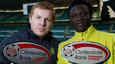 Neil Lennon and Victor Wanyama.