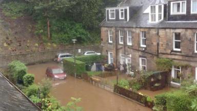 Flooding in Stockbridge Colonies Edinburgh 2012
