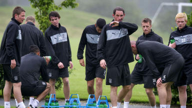 Hibernian players back in training for 2012/13
